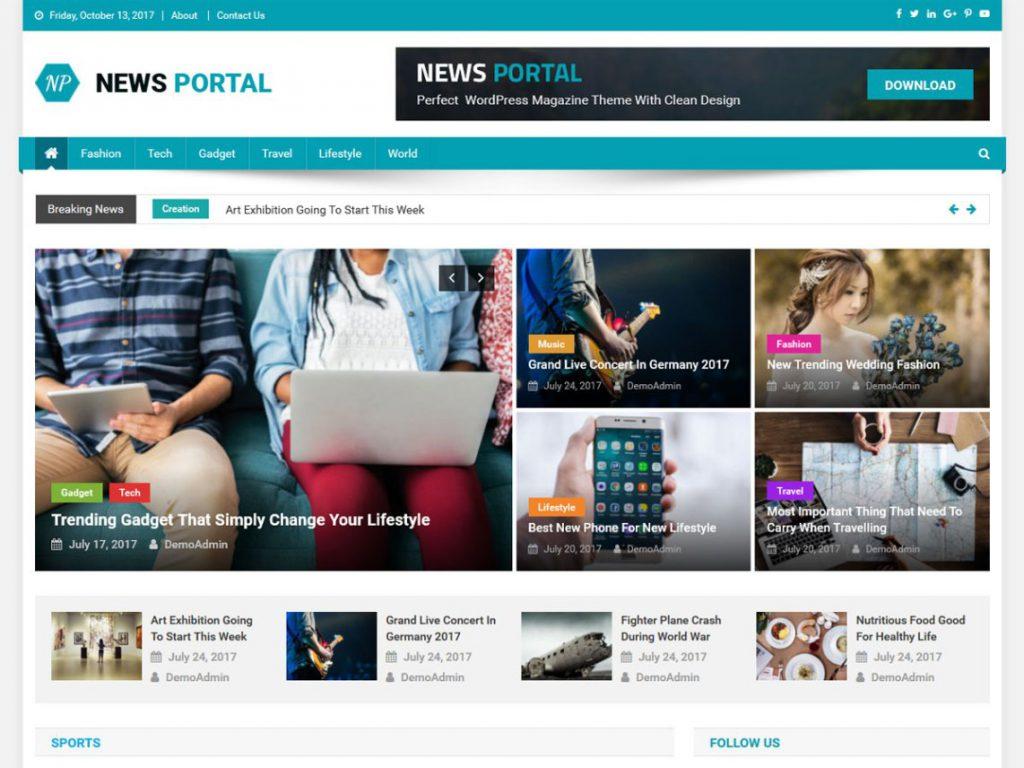 plantilla wordpress news portal